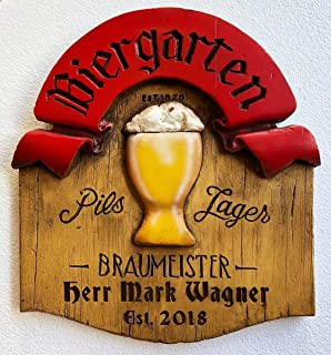 product image for Piazza Pisano Art by Al Pisano German Biergarten Personalized Beer Sign