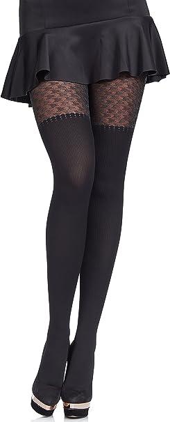 XL Calze Donna Comode Collant Opachi Senza Cuciture 50 denari Collant Neri S