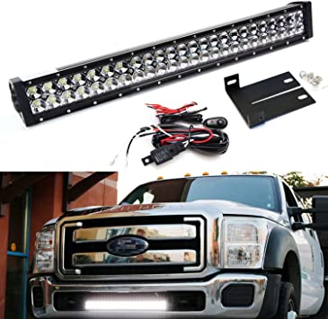 ford f350 headlight switch wiring amazon com ijdmtoy lower grille mount 25 inch led light bar  ijdmtoy lower grille mount 25 inch led