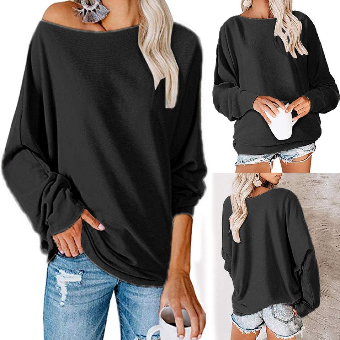 1PC Lady Off Shoulder Camo Long Sleeve Blouse Tops Baggy Loose T-Shirt Plus size