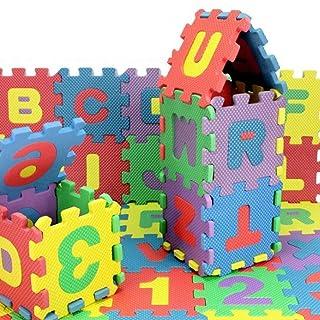 Set 36pezzi Pro NUOVA EVA puzzle Tappetino Tappeto Gioco Baby Gommapiuma per Bambini Tappeto digitale lettere PEDAGOGICA Schiuma Tappetino 15* 15ambiente Gentile Baby arrampicata 15,5*15,5*0,9cm 9cm iBàste