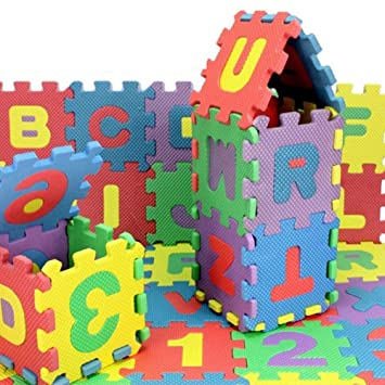 Amazon.com : ABC Foam Mat Childrens Puzzle Mat Digital ...