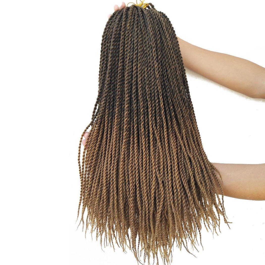 "Flyteng Small Senegalese Twist Crochet Hair Braiding Hair 8Packs 18"" crochet braids Synthetic Twist Hair For Women"