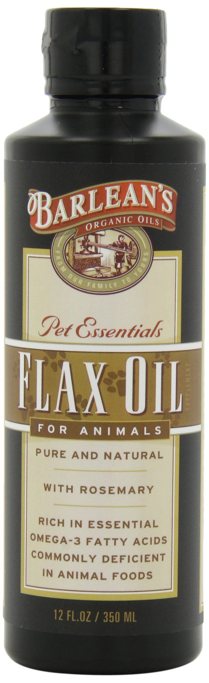Barlean's Flax Oil For Animals, 12-Ounce Bottles (Pack of 2)