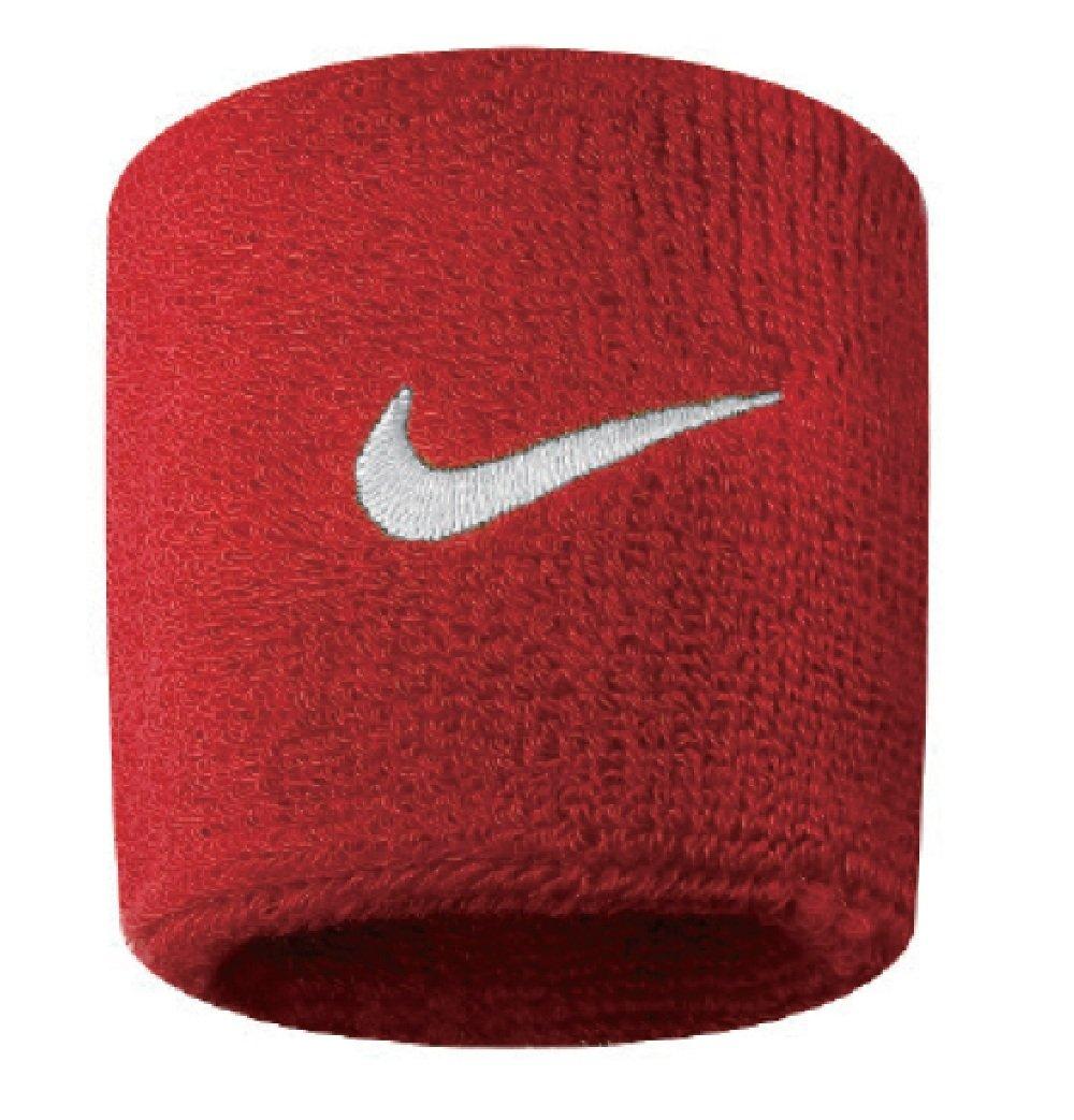 Nike Swoosh Wristbands (Varsity Red/White, Osfm)