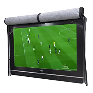 """A1Cover Outdoor 55"""" TV Set Cover,Scratch Resistant Liner Protect LED Screen Best-Compatible with Standard Mounts and Stands (Black) …"""