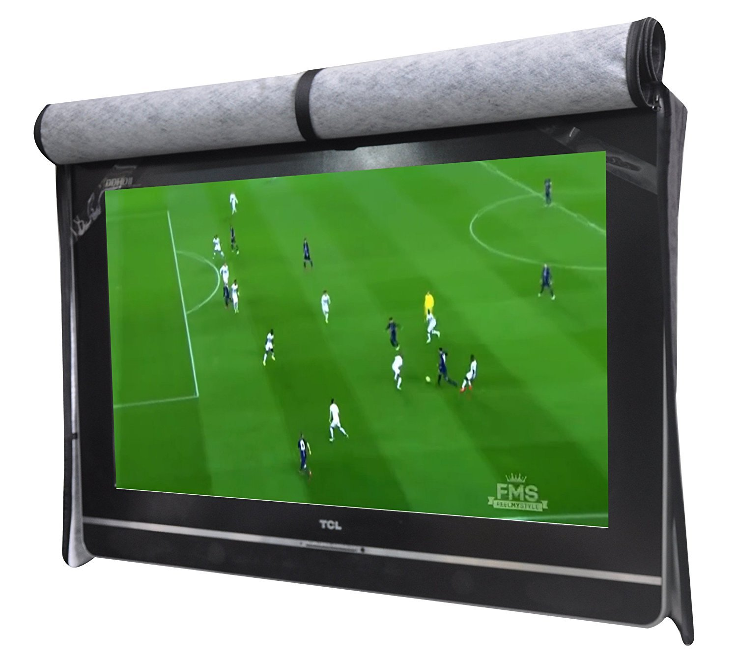 A1Cover Outdoor 55'' TV SET Cover ,Scratch Resistant liner protect LED Screen best-Compatible with Standard Mounts and Stands (Black)