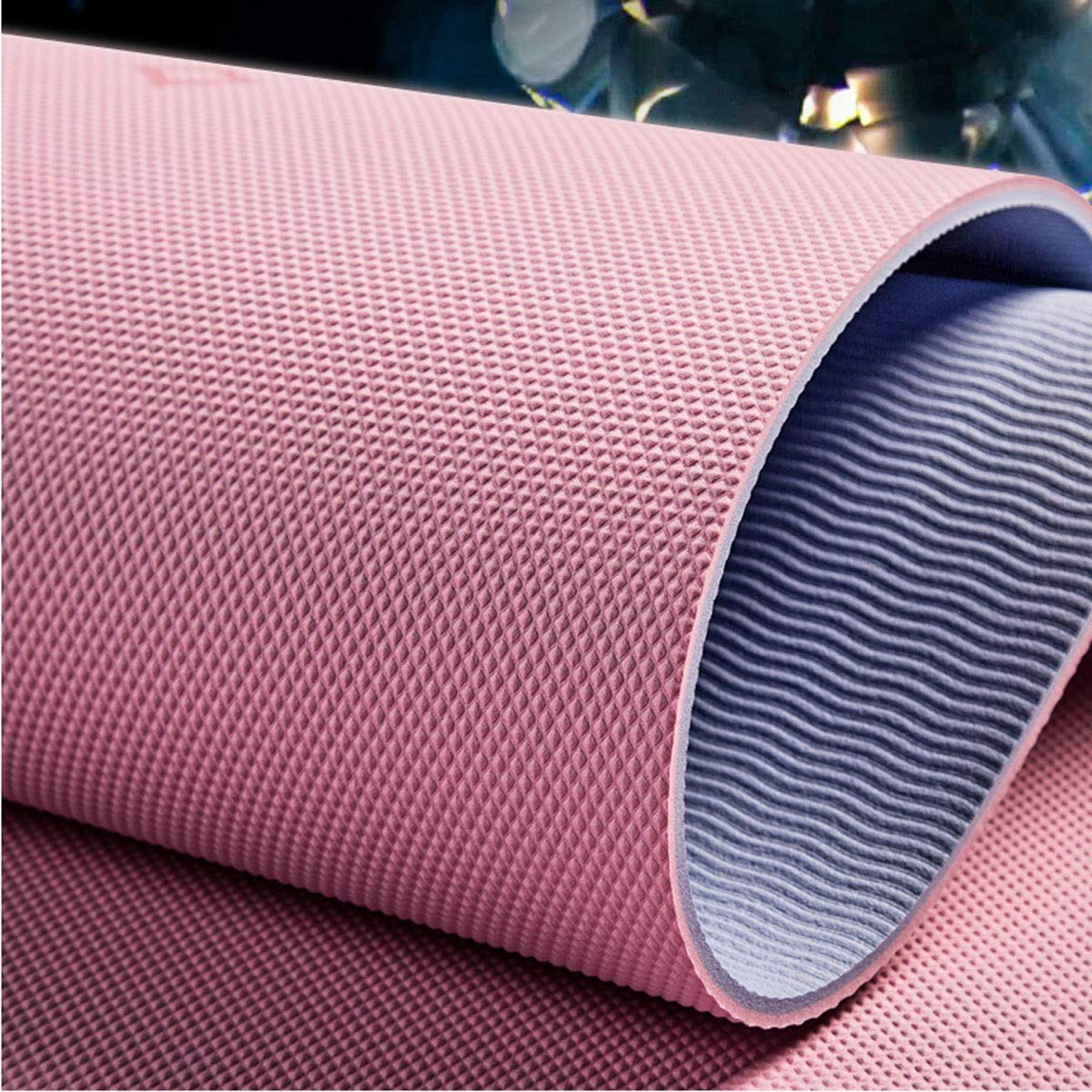 73.2 * 26.4 Inches, 6 / 8mm, Two Styles for You to Choose Jielongtongxun Yoga Mat High-Elastic Design Small Gift Beautiful Thick and Long Comfortable Yoga Mat