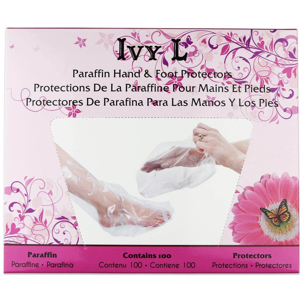 100 Pcs Paraffin Wax Thermal Mitt Plastic Therapy Liner Bags for Hand or Foot - Professional or Personal Home Salon Use, 15 x 10 Inches