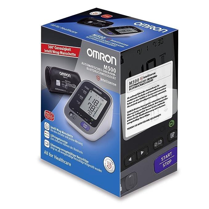 OMRON M500 - Tensiómetro de brazo eléctrico, color gris [Importado de Alemania]: Amazon.es: Salud y cuidado personal
