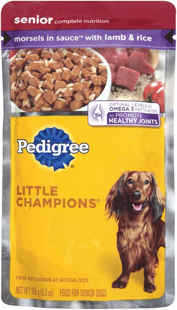 PEDIGREE Little Champions Senior Complete With Lamb and Rice Wet Dog Food 5.3 Ounces (Pack of 24)