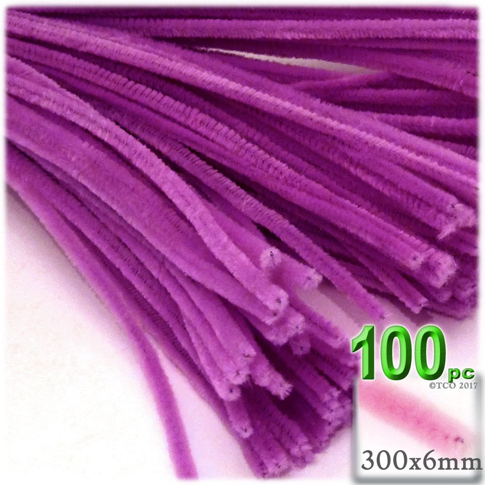 The Crafts Outlet Chenille Stems, Pipe Cleaner, 12-inch (30-cm), 100-pc, Orchid