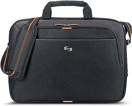 Solo New York Ace Slim Brief Laptop Briefcase, Black