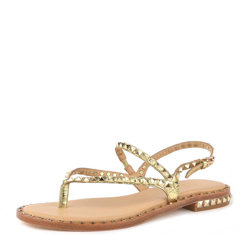 a5996b210eedaf Ash Footwear Chaussures Peps Sandales en Or Femme