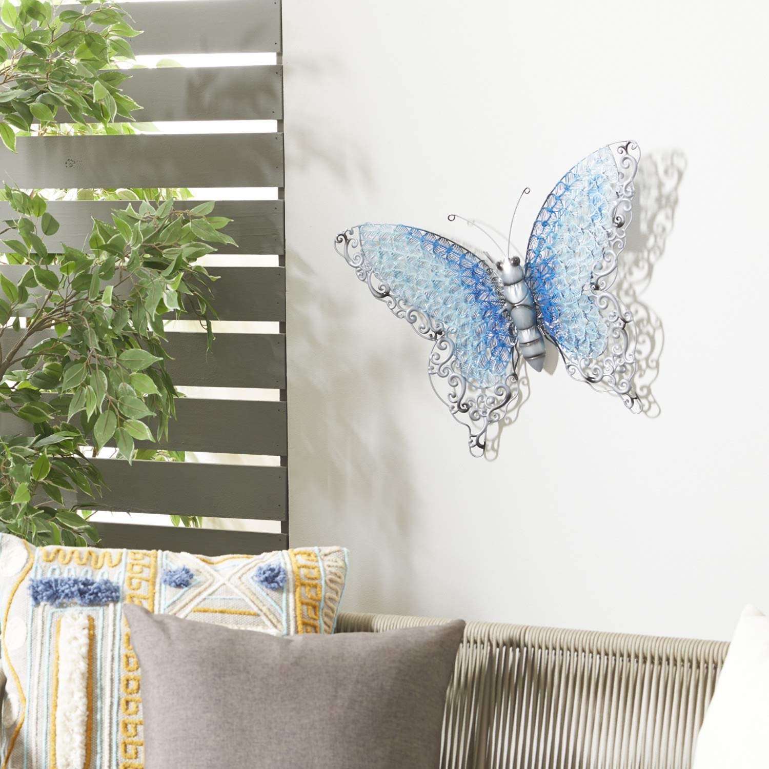Deco 79 Contemporary Styled Metal Butterfly