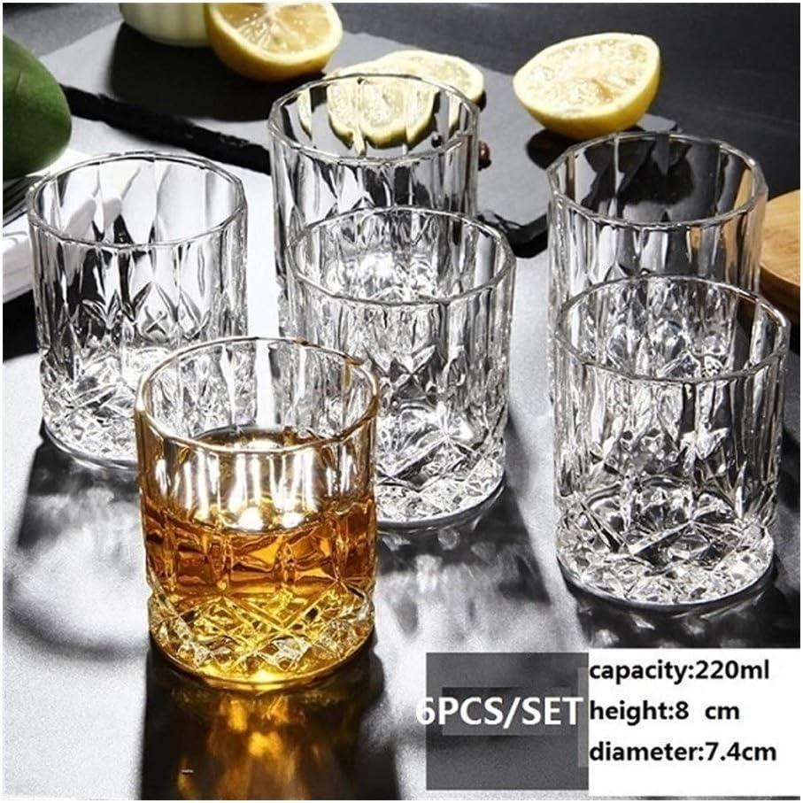 ZZYLHS 6pcs / Set De Cristal De Whisky De Cristal Copa La Fiesta De La Cerveza Agua Y Home Bar Boda del Hotel De Lentes Vasos Regalo (Color : 1)