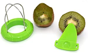 ZRAMO TH502 Green Kiwi Fruit Cut Digging Core Twister Slicer Kitchen Peeler Tool Cutter Device for Fruit Salad