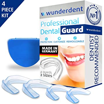 Wunderdent Professional Dental Guard - Made in Germany - 4 ct - Teeth  Grinding Night Protector, Athletic