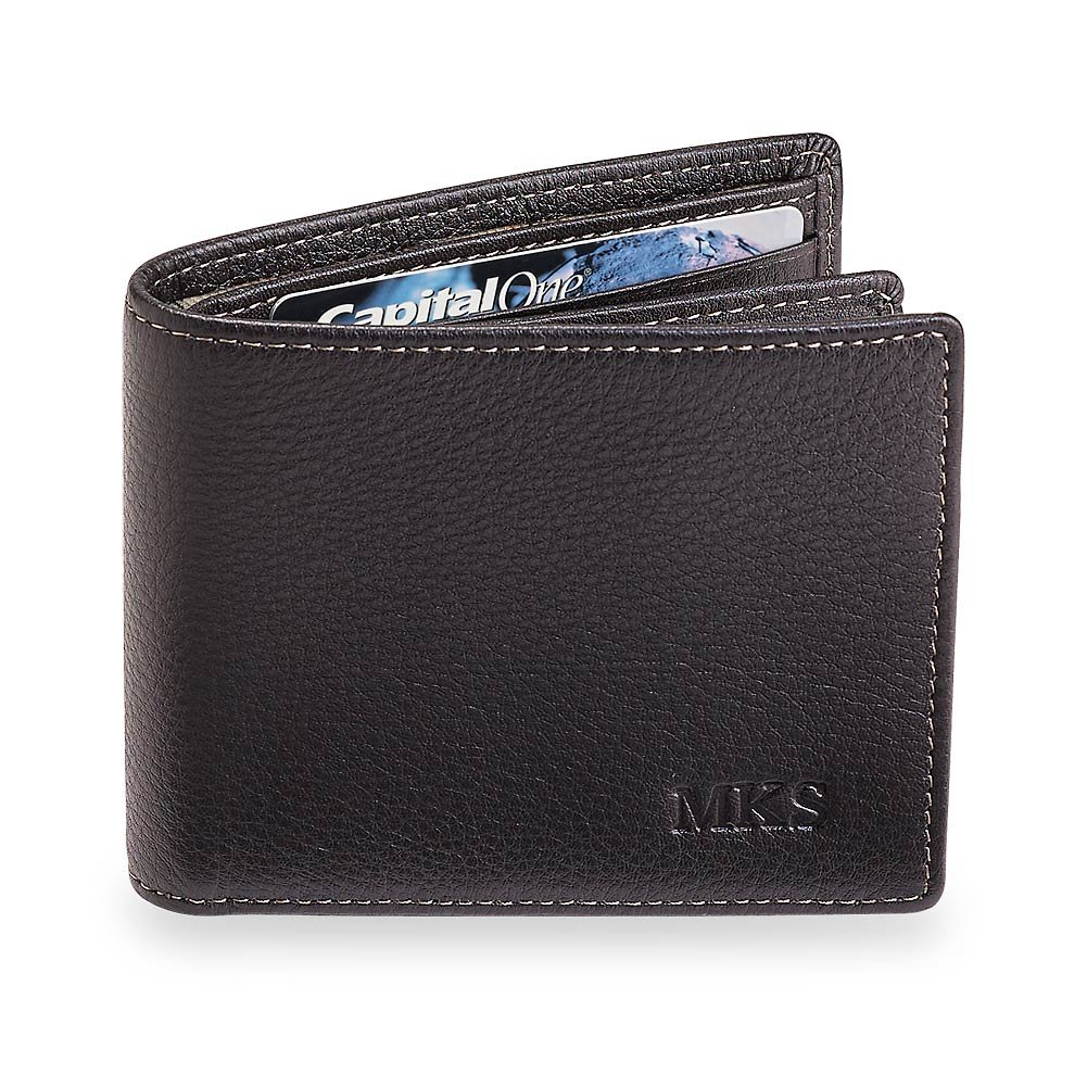 Levenger Bomber Jacket Flip ID Wallet with RFID Protection