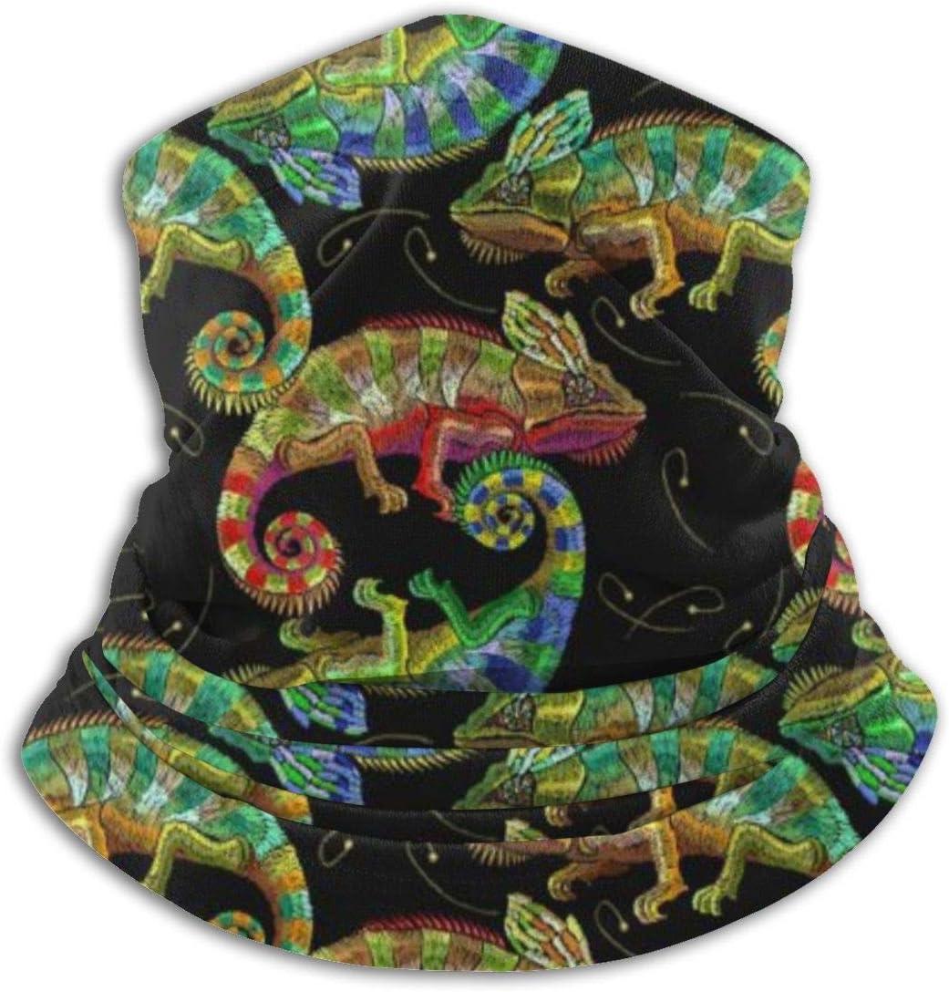 VVGETE Headwear Color Chameleons Pattern Face Scarf Unisex Tube Mask Headwear Durable Retro Seamless Bandana Outdoor Sports Neck Gaiter Motorcycle For Men Women