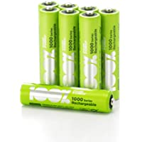 100% PeakPower 8 x Pilas Recargables AAA 800 mAh NiMH | Pilas AAA Recargables Que Vienen precargadas Listas para Usar…