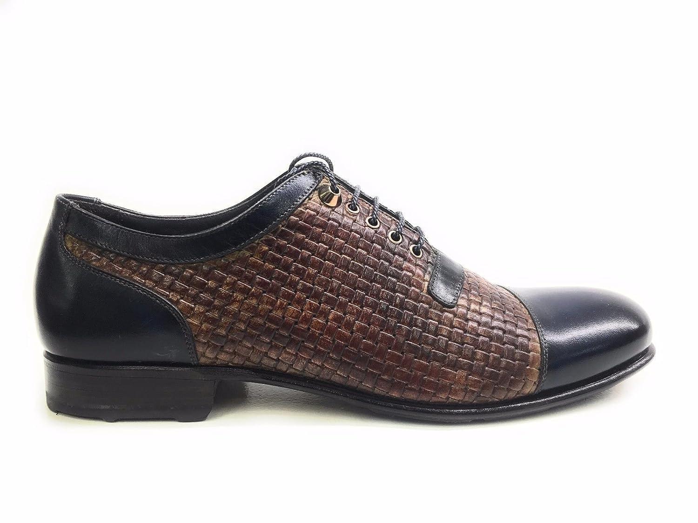 chic Harris , Chaussures de ville à lacets pour homme marron MORO E BLU YES 8UIK