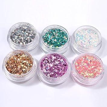 Festnight Glitter per unghie lustrini 3D nail art