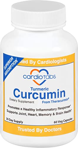 Turmeric Curcumin from THERACURMIN - 600 mg - 2700 Better Absorbed Than Conventional Curcumin - 30 Day Supply - Nano Particle Formulation