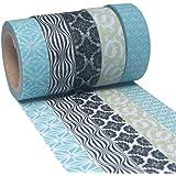 K-LIMIT 5 Set Washi Tape rotoli di nastro adesivo masking tape scrapbooking, DIY 9260