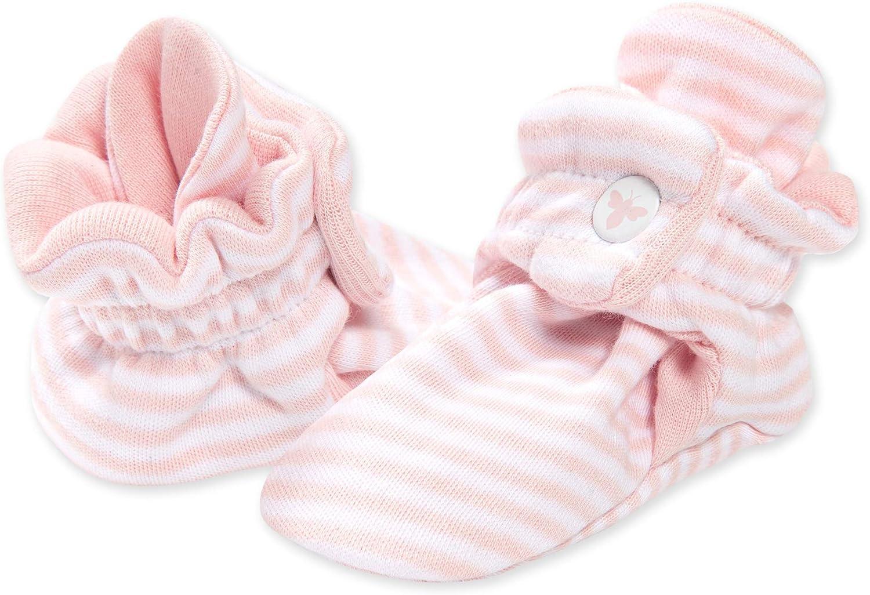 Burt's Bees Baby Unisex Baby Booties, Organic Cotton Adjustable Infant Shoes