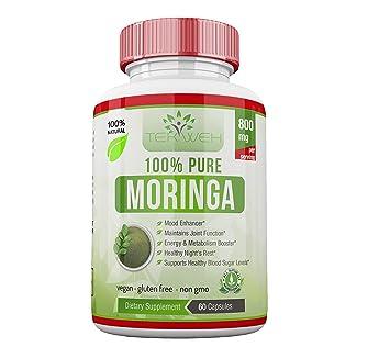 Pastillas De Moringa Para Adelgazar Natural Organico - Fuente de Vitaminas, Minerals Y Proteina Completa