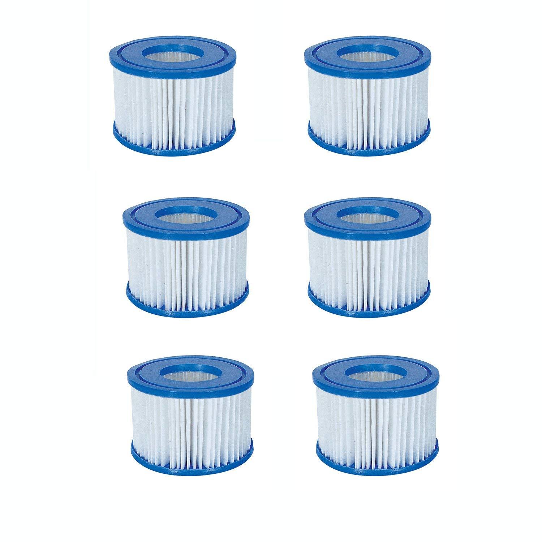 Bestway Spa Filter Pump Replacement Cartridge Type VI SaluSpa Hot Tub (6 Pack) by Bestway