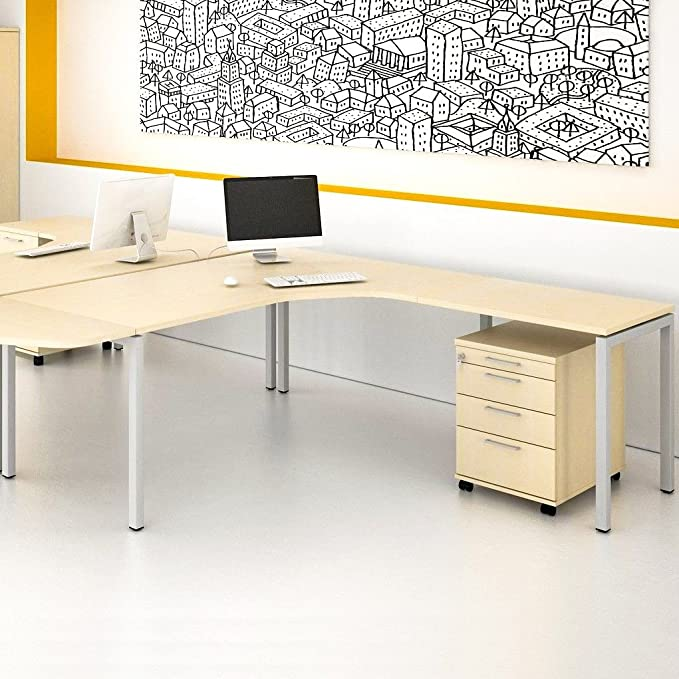 Weber ángulo de Oficina Escritorio con cajonera Nova XL 180 x 200 ...