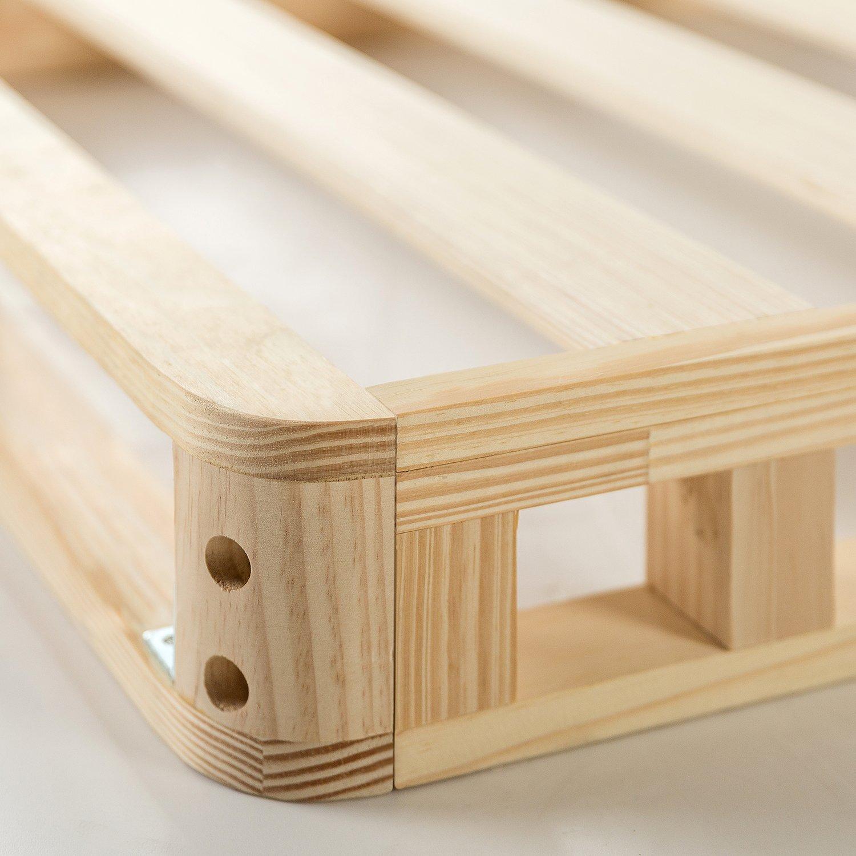 Zinus 4 Inch Low Profile Wood Box Spring Mattress