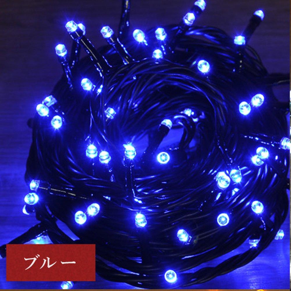 iimono117 高輝度 LED イルミネーション リモコン付き [ 6m 100球 ~ 120m 2000球 まで 連結可能 ] 防水 防滴型 IP44 (18m(300球), ブルー) B076K6XFV9 10800 18m(300球) ブルー ブルー 18m(300球)