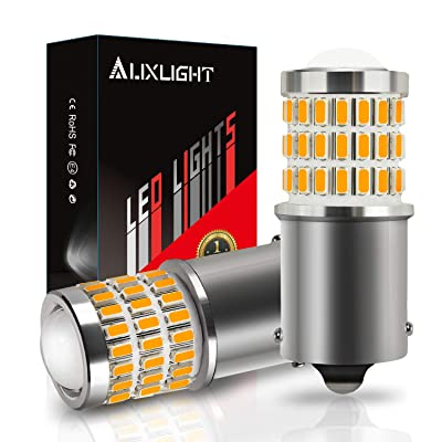 AUXLIGHT 1156 BA15S 1003 1141 7506 1156A LED Bulbs Amber Yellow, Ultra Bright 57-SMD LED Replacement for Blinker Lights, Turn Signal/Parking or Running Lights, Brake/Tail Lights (Pack of 2): Automotive [5Bkhe0906384]