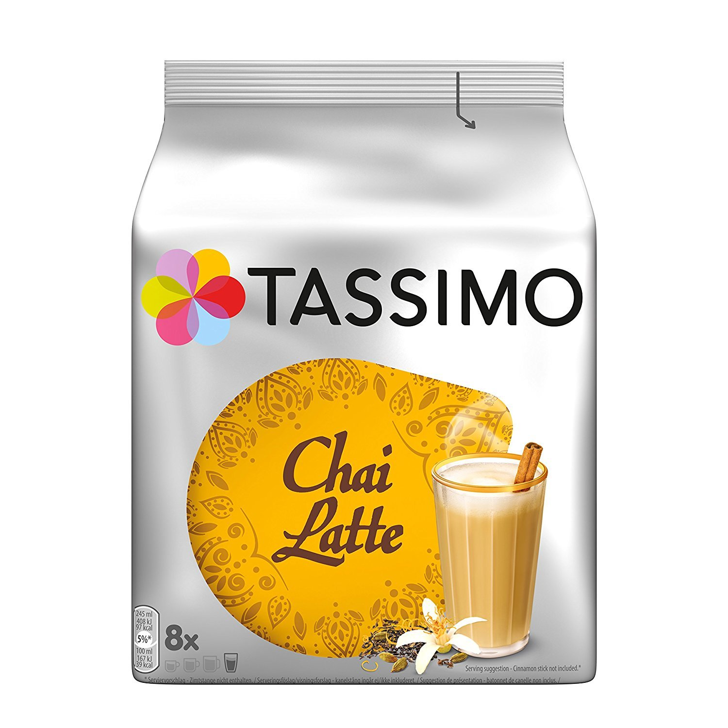 Tassimo Chai Tea Latte, 8-Count T-Discs for Tassimo Brewers, 6.35 oz (Pack of 3)