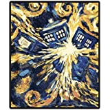 Doctor Who Throw Blanket - Exploding TARDIS Pandorica Fleece - 50 x 60 Afghan