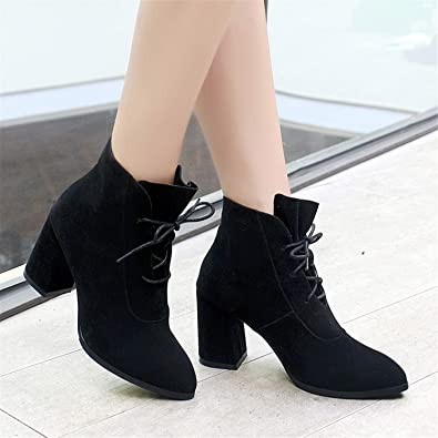 9e9e0615b78ae Amazon.com | Marvin Cook Women Boots Lace Up Ankle Boots for Women ...
