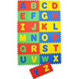Archana NHR Play Puzzle Style Mat with English Alphabets,12x12-inches - Set Of 26 Pcs