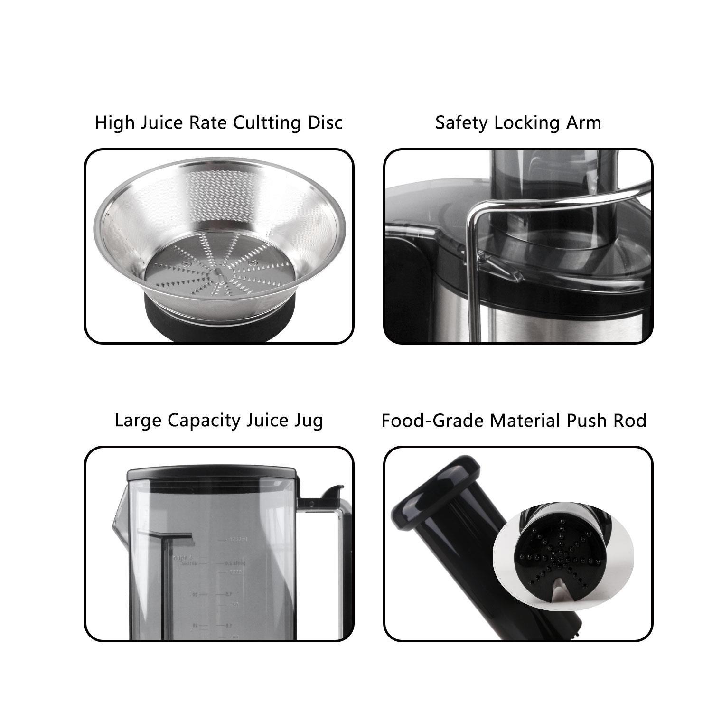 Aigostar MyFrappe Black 30IMX jarra de 1,25 litros Cuerpo de acero inoxidable de tipo 304 y libre BPA 850W Licuadora semiprofesional para frutas y verduras con dos velocidades Dise/ño exclusivo.