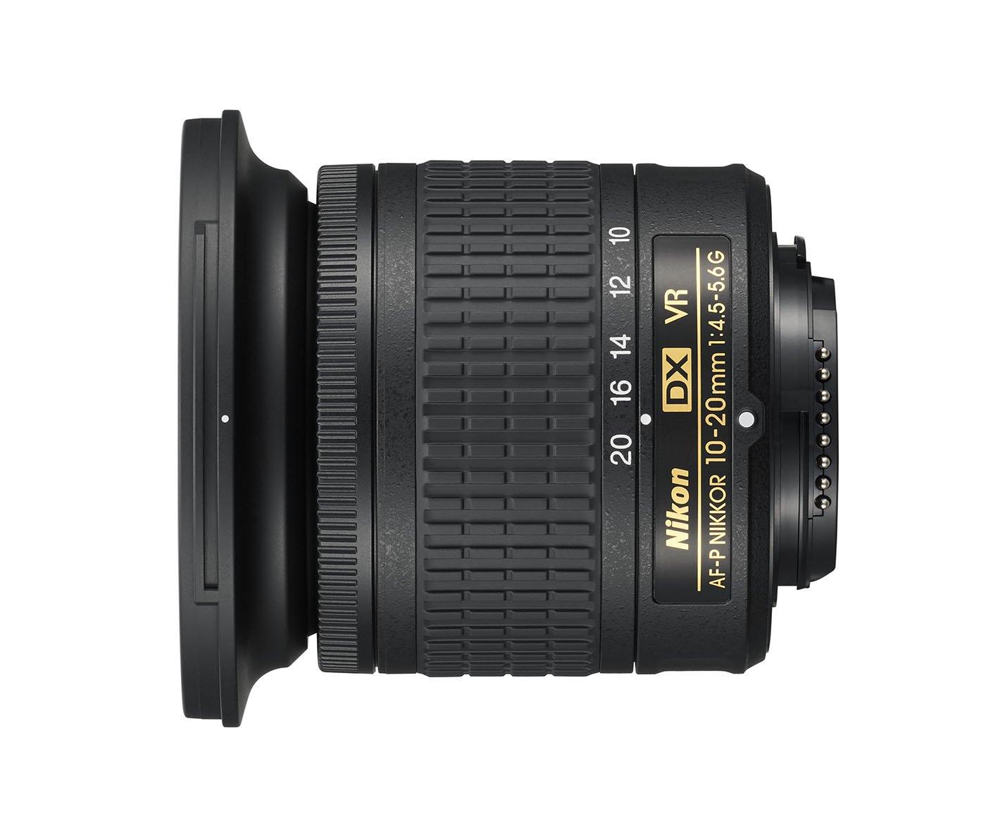 Nikon AF-P DX 10 - 20 mm f/4.5 - 5.6 G VR Objetivo, Negro [Nital ...