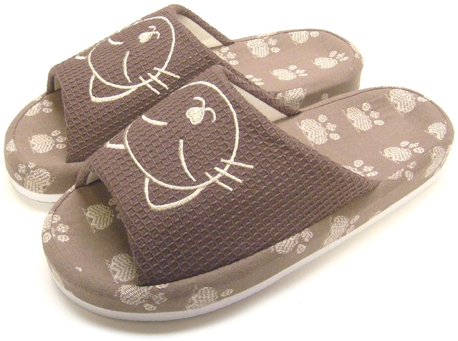 KNP260016S/Arch Support Wide Width Bamboo Cat House Slippers