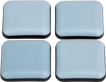 protectores de suelo gris silla deslizante. autoadhesivo /Ø 40 mm 4 piezas de tefl/ón
