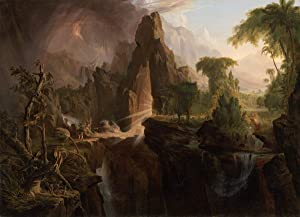 Thomas Cole Giclee Canvas Print Paintings Poster Reproduction(Expulsion from the Garden of Eden)