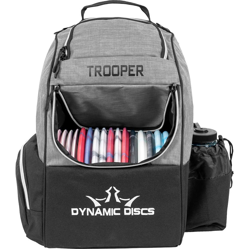 Dynamic Discs Trooper Disc Golf Backpack   Heather Gray   Frisbee Disc Golf Bag with 18+ Disc Capacity   Introductory Disc Golf Backpack   Lightweight and Durable by D·D DYNAMIC DISCS