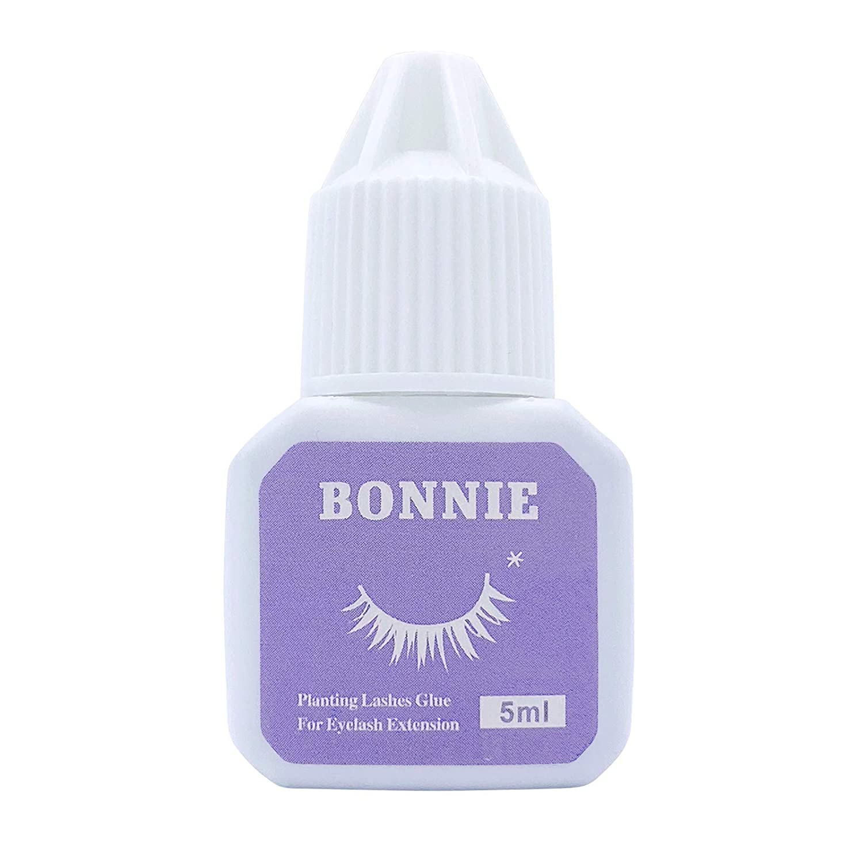 Bonnie Eyelash Extension Glue for Both Self and Professional Applications|Tasteless Non-Stimulating | 3-5 Sec Drying Time | Retention 20-25 Days | Sensitive Black Eyelash Glue by Bonnie, 5ml