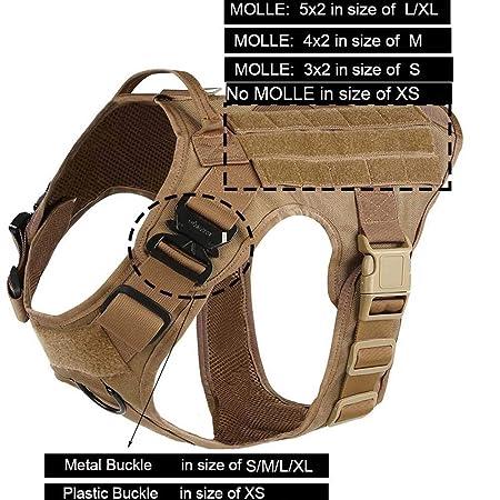 XFC-DOG-E, Arnés Modular para Perros tácticos Militares Sin tirón ...