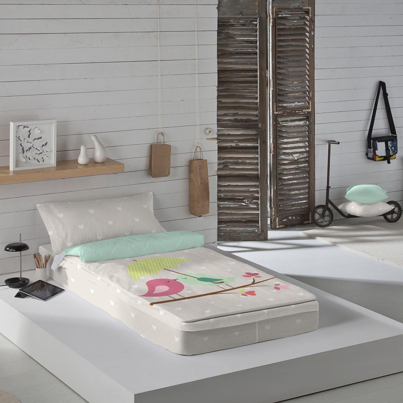 Naturals Bettbezug mit Füllung Edén, für 90 cm breite Betten (90 x 190/200 + 45 x 110 cm), Mehrfarbig