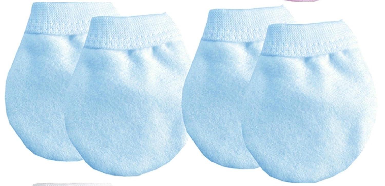 6 Pairs Baby Anti Scratch Mittens 100% Cotton - Multi Listing - White, Pink, Blue, Lemon (Mixed Pink & White) QI